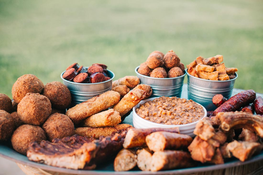 In-Laws Cajun Specialties menu items - Boudin Balls, Sausage, Cracklins, BBQ Plate Lunches