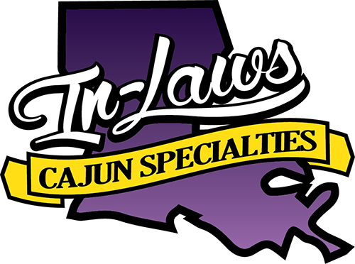 Inlaws Cajun Specialties logo, Iowa Louisiana - Boudin, Sausage, Cracklins, BBQ Plate Lunches