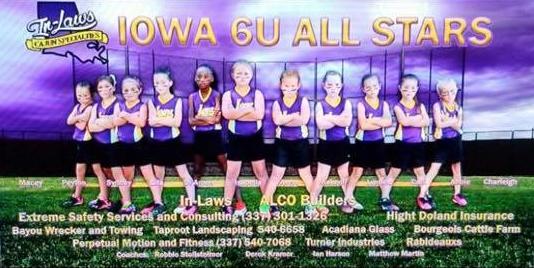Iowa Girls All-Star T-Ball Team Photo